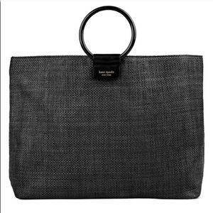 Kate Spade Black Tote Bag Purse w Round Handles